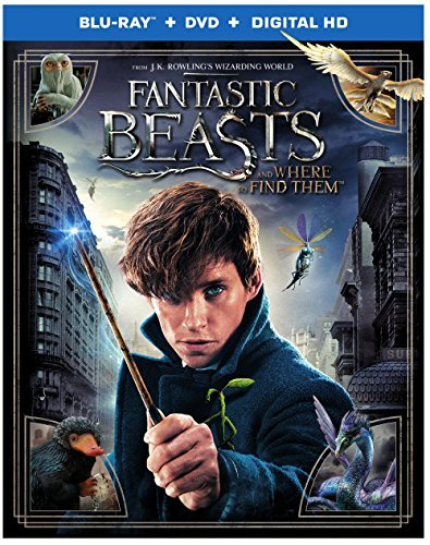 Fantastic Beasts & Where To Find Them Redmayne Waterson Sudol Blu Ray DVD Dc Pg13
