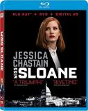 Miss Sloane Chastain Lithgow Strong Blu Ray DVD Dc R