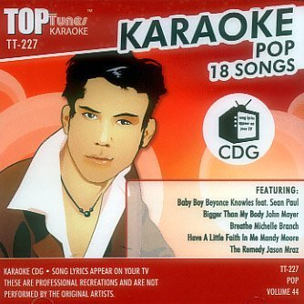 Karaoke Various Artists Barry White; Bubba Sparxxx Top Tunes Karaoke Cd+g [mixed] Pop Vol. 44 Tt 227
