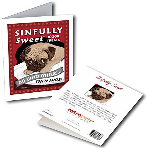 Retro Card Sinfully Sweet Pug