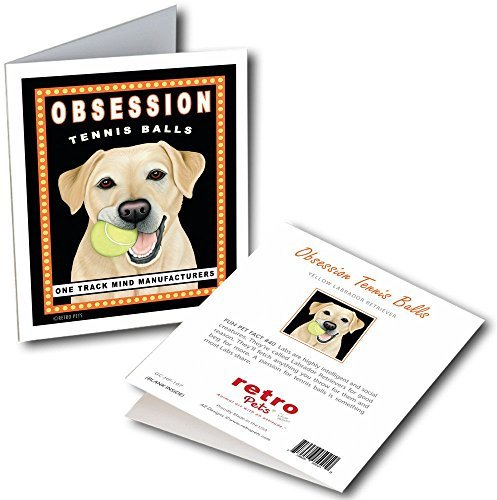 Retro Card Obsession Yellow Lab