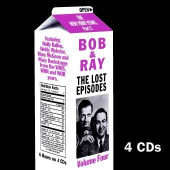 Bob & Ray Vol. 4 Lost Episodes New York