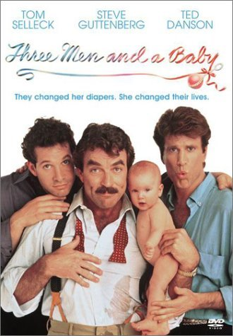 Three Men & A Baby Selleck Guttenberg Danson Ws Selleck Guttenberg Danson