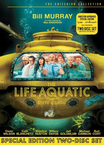 Life Aquatic With Steve Zissou Murray Huston Wilson Dafoe Clr Ws Criterion Edition