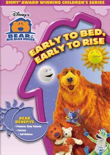 Early To Bed Early To Rise Bear In The Big Blue House Clr Nr