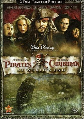 Pirates Of The Caribbean At World's End Depp Bloom Knightly Pg 13 2 DVD