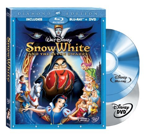 Snow White & The Seven Dwarfs Disney Ws Blu Ray & DVD G 3 DVD