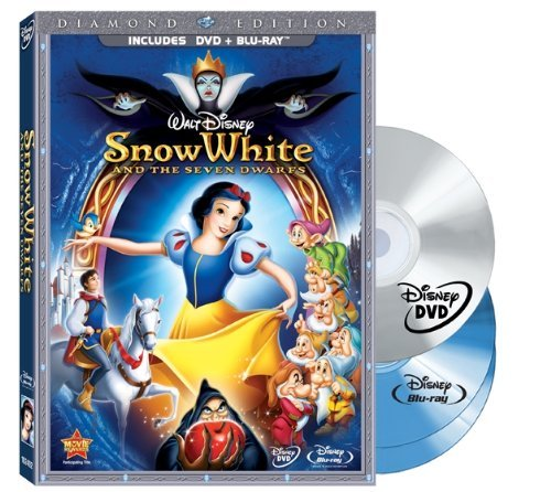 Snow White & The Seven Dwarfs Disney Ws G 3 DVD Incl. Blu Ray