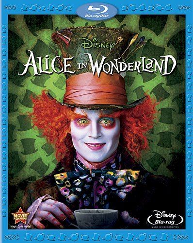 Alice In Wonderland (2010) Depp Wasikowska Carter Hathawa Blu Ray Pg