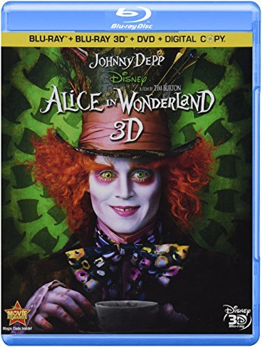 Alice In Wonderland 3d (2010) Depp Hathaway Carter Sheen Blu Ray Ws 3dtv Pg