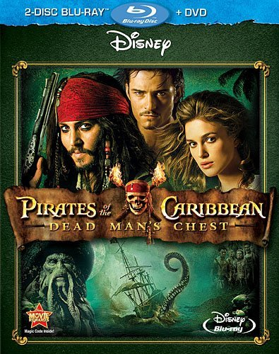 Pirates Of The Caribbean Dead Man's Chest Depp Bloom Knightley Pg13 Blu Ray DVD