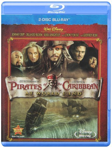 Pirates Of The Caribbean At World's End Depp Bloom Knightley Pg13 Blu Ray DVD