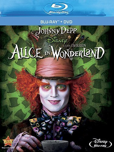 Alice In Wonderland (2010) Depp Wasikowska Carter Hathawa Blu Ray DVD Pg