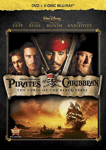 Pirates Of The Caribbean Curse Depp Bloom Knightly Blu Ray Ws Pg13 2 Br Incl. DVD