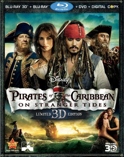 Pirates Of The Caribbean On Stranger Tides Depp Johnny Ws Blu Ray Pg13 5 DVD