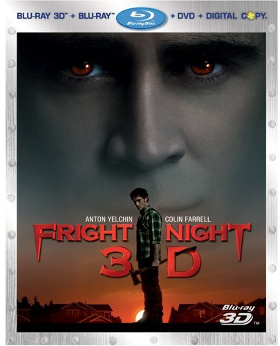 Fright Night (2011) 3d 2d Farrel Yelchin Poots Collette Blu Ray Ws R Incl. DVD Dc