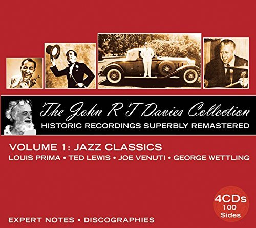 John R T Davies Collection Vol. 1 Jaz Classics Historic R Prima Lewis Venuti Wettling 4 CD Remastered