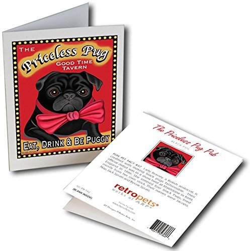 Retro Card Priceless Pug
