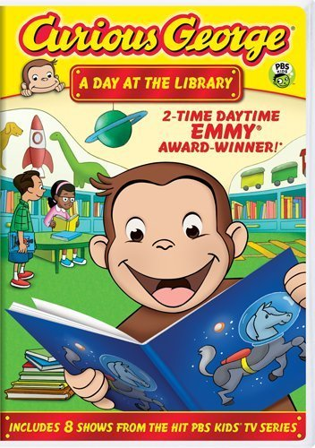 Curious George Day At The Library Ws Nr