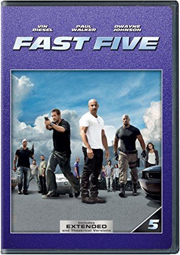 Fast Five Diesel Walker Johnson DVD Pg13