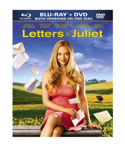 Letters To Juliet Seyfried Redgrave Bernal Blu Ray Ws Pg Incl. DVD
