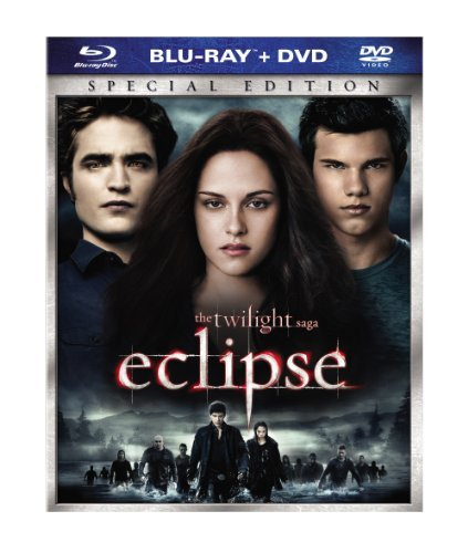 Twilight Eclipse Stewart Pattinson Lautner Blu Ray DVD Pg13 Incl. DVD