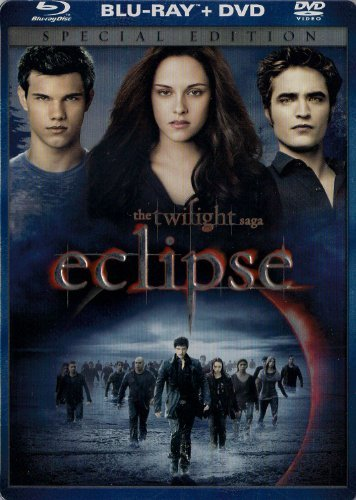 Twilight Eclipse Stewart Pattinson Lautner Blu Ray DVD Steelbook Pg13