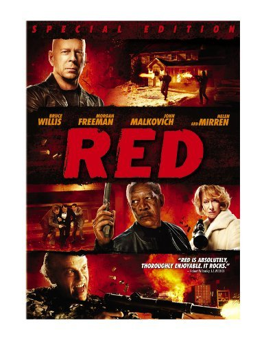 Red Willis Freeman Mirren Malkovich DVD Pg13 Ws