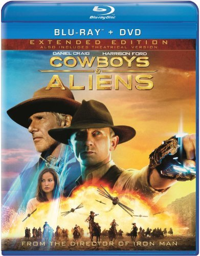 Cowboys & Aliens Ford Craig Blu Ray Aws Pg13 Incl. DVD Dc Uv
