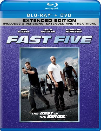 Fast Five Diesel Walker Johnson Blu Ray Ws Pg13 Incl. DVD Dc