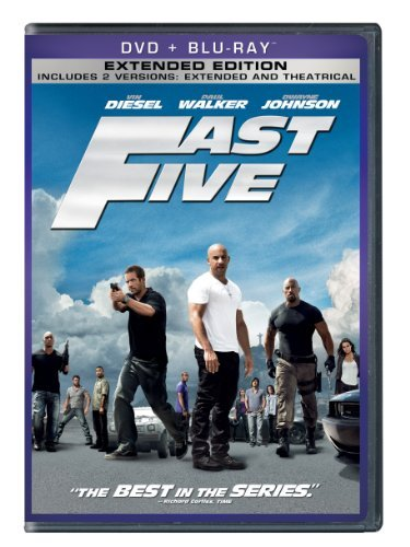 Fast & The Furious Fast Five Diesel Walker Johnson Pg13 Incl. Blu Ray Dc