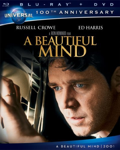 Beautiful Mind Crowe Connelly Harris Bettany Blu Ray Ws 100th Annv Coll. Pg13 Incl. DVD Dc