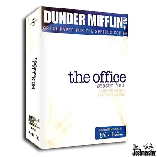 Office Season 4 Exclusive 5 Disc Gift Set With Sticky Book & Scrip