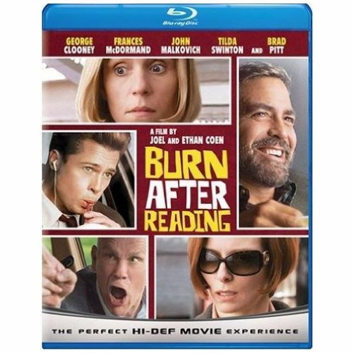Burn After Reading Pitt Clooney Malkolvich Blu Ray R