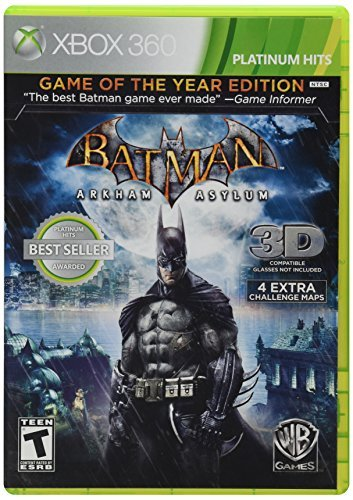 X360 Batman Arkham Asylum Game Of The Year Edition T