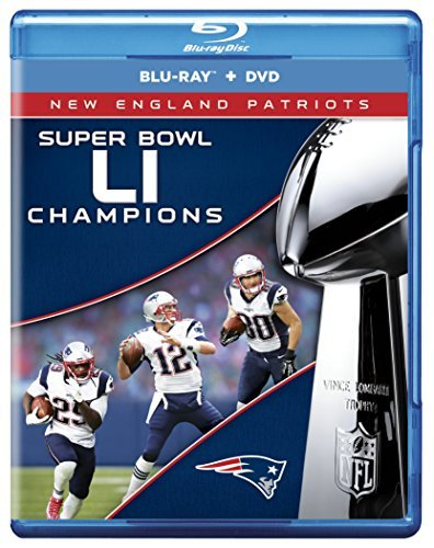 New England Patriots Super Bowl Li Champions Blu Ray DVD