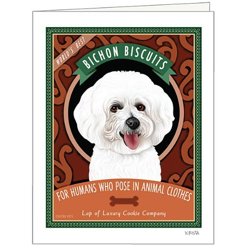 Retro Card Bichon Biscuits