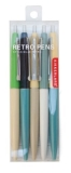 Novelty Retro Pens Set Of 5