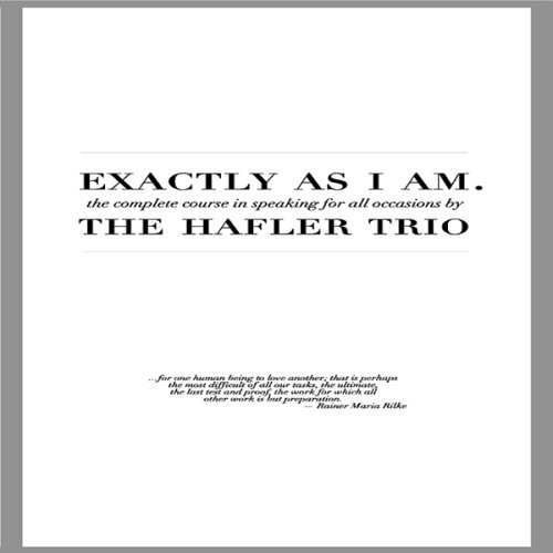 Hafler Trio Birgisson Exactly As I Am 2 CD