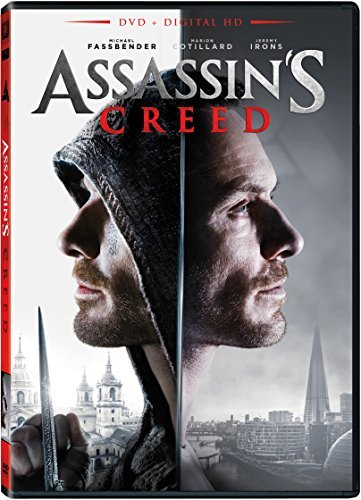 Assassin's Creed Fassbender Cotillard Irons DVD Dc Pg13