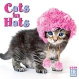 Sellers Publishing Inc Cats In Hats 2018 Mini Wall Calendar