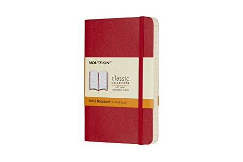 Moleskine Moleskine Classic Notebook Pocket Ruled Scarlet