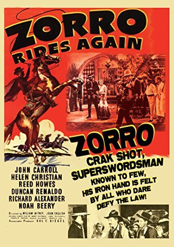 Zorro Rides Again Carroll Christian Howes DVD Nr
