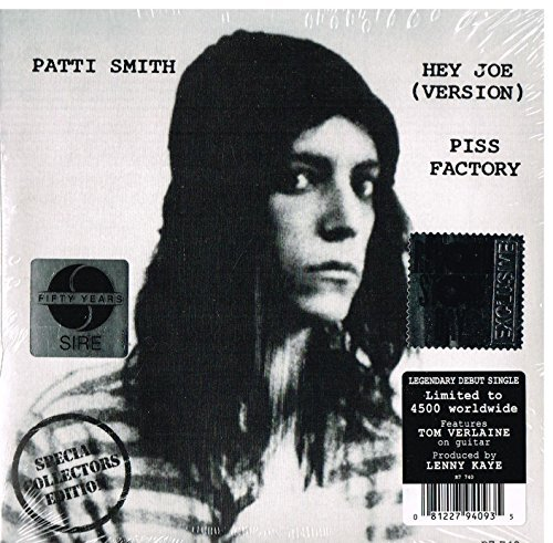 Patti Smith Hey Joe (version) Piss Factory Record Store Day Exclusive