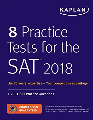 Kaplan Test Prep 8 Practice Tests For The Sat 2018