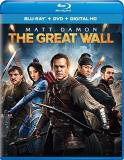 The Great Wall Damon Jing Dafoe Blu Ray DVD Dc Pg13