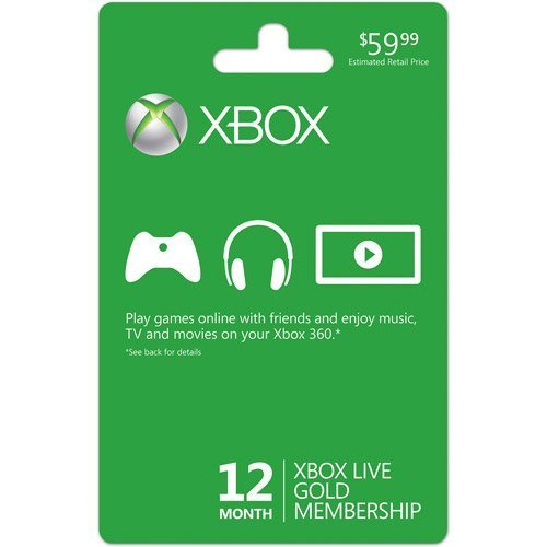 Xbox One Accessory Live 12 Month Card