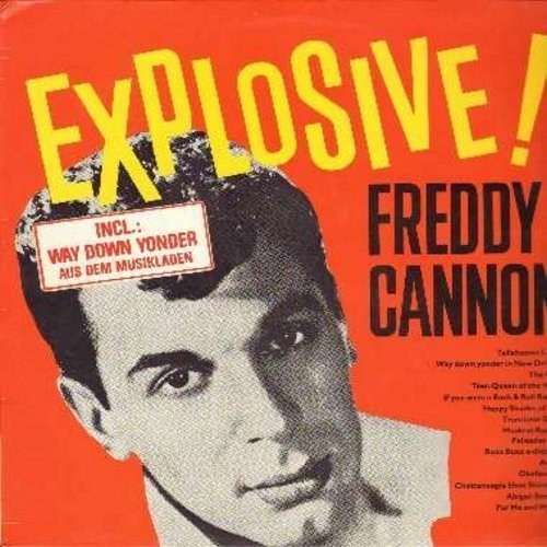 Freddy Cannon Explosive Sings Happy Shades Import Esp Incl. Bonus Tracks Remastered