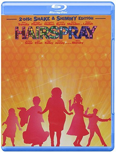 Hairspray (2007) Travolta Pfeiffer Walken Bynes Blu Ray Ws Pg