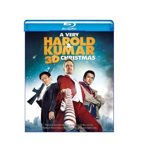 Very Harold & Kumar Christmas Cho Penn Harris Blu Ray 3d Ws R Incl. DVD Uv